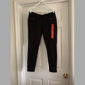 06d9f0bebca300 Matty M Pants | Baroque Legging Black Navy Small | Poshmark